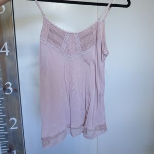 DUSTY PINK LACE DETAIL CAMISOLE
